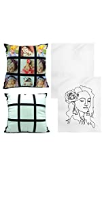 sublimation pillow cases and 9 panel tapestries blanks