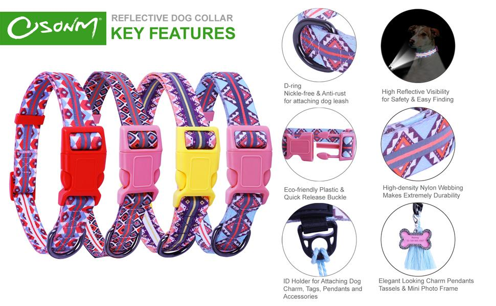 Reflective dog collar's product details
