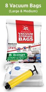 8 Vacuum Bags (4L+ 4M)