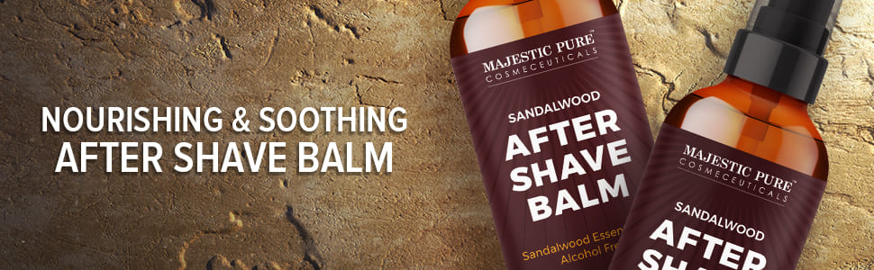 majestic pure after shave balm natural beard hair nourish hydrate mustache sandalwood sensitive best