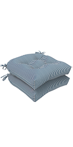 LVTXIII tufted seat cushions, patio furniture decorative cushions, round back, U-shape