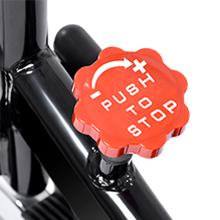 Adjustable resistance knob
