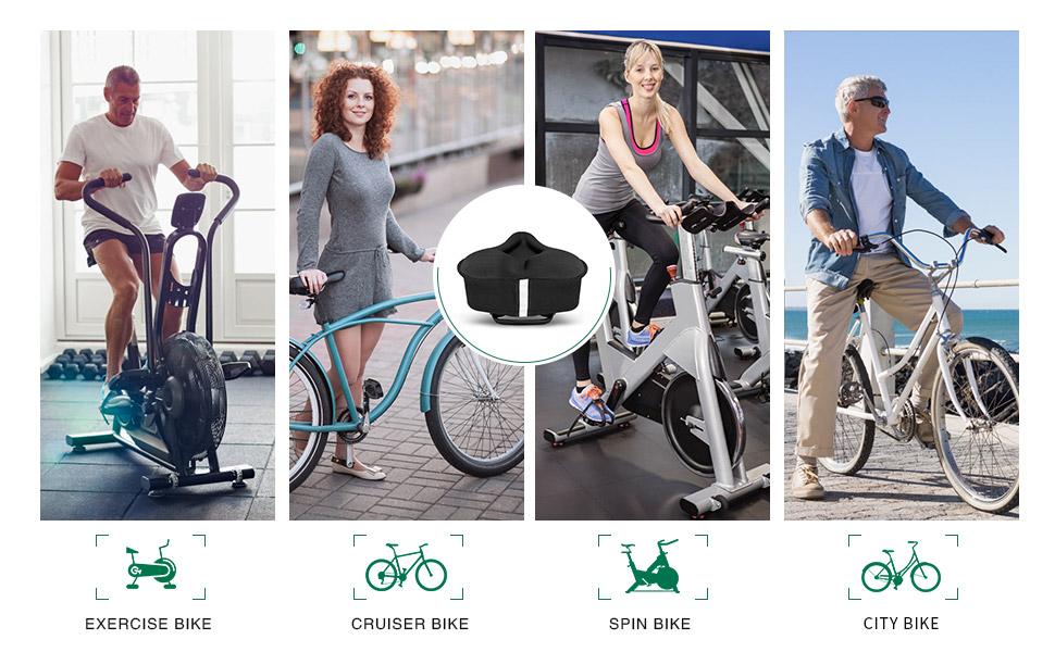 exercise bike seat cushion  cruiser bike seat cushion cover spin bike city bike seat cushion cover