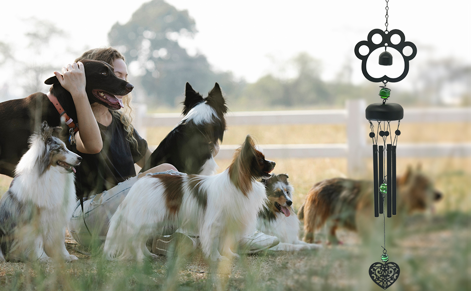 The pet sympathy wind chime is the stunning ornament in your garden, Parlor, yard, Patio and home.