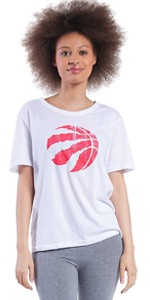 NBA Women's Soft Vintage Distressed Graphics Jersey Tee Shirt