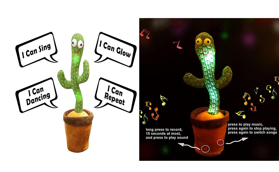 dancing cactus plush in pot