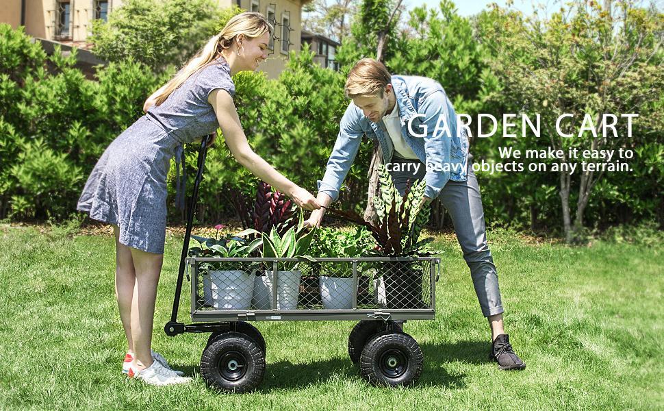 grey garden cart