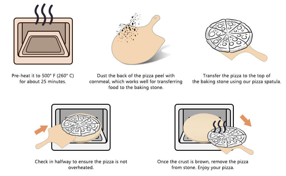 how to use pizza stone