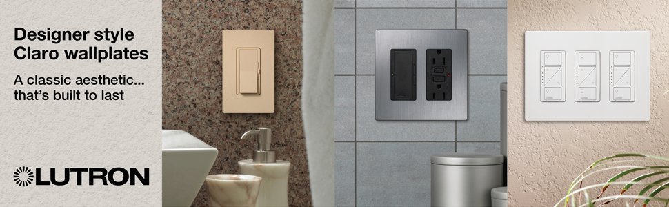 Examples of wallplates in various rooms and settings.
