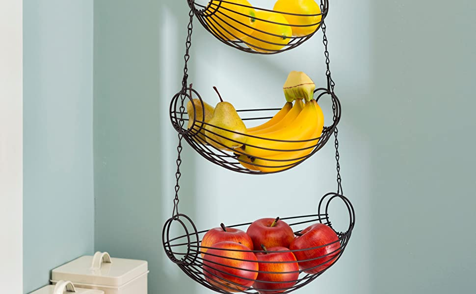 wall vegetable basket, modern hanging fruit basket, wall hanging produce baskets, wall mounted veget