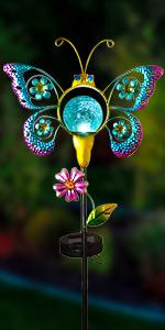 Solar butterfly lights outdoor