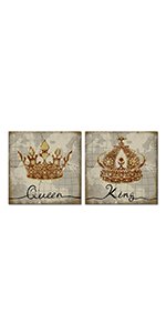 RyounoArt King and Queen Canvas Wall Art