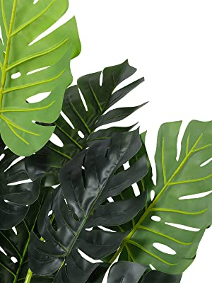 monstera deliciosa fake palm tree artificial monstera plant faux plants tall indoor