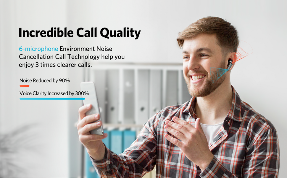 Enhanced 6-microphone Call Technology for crystal clear calls.