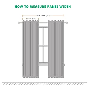 width of panel 52 inches and both panels are 104 inches