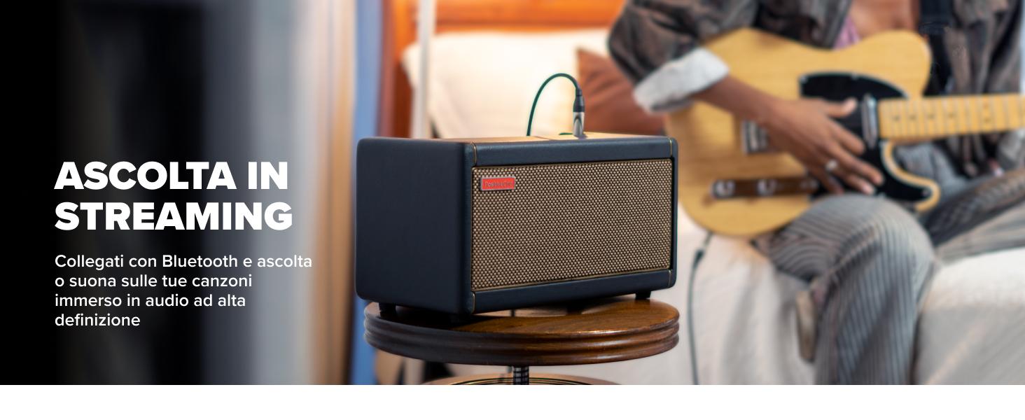 Collegati con Bluetooth e ascolta o suona sulle tue canzoni immerso in audio ad alta definizione