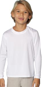 kids sports long sleeve sun protection shirt upf 50 hiking fishing running shirt