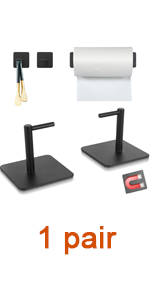 Paper Towel Holder Black Magnetic Mount Paper Tower Bar with Strong Magnetic