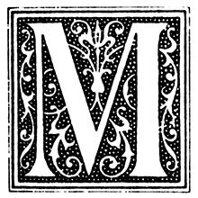 Imagem com a letra M