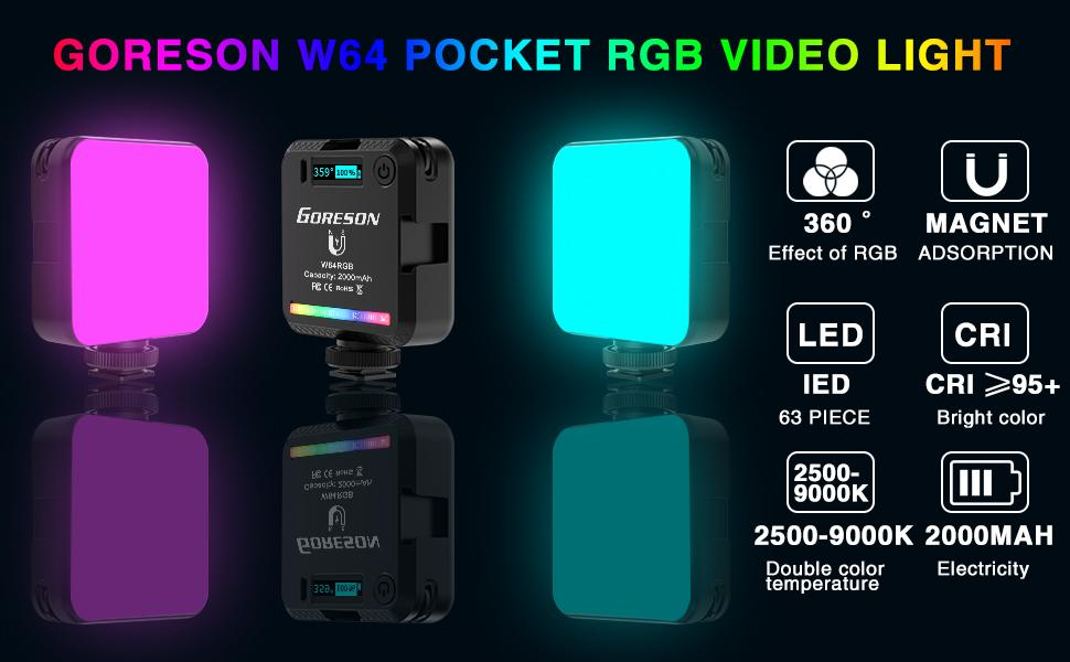 w64 pocket rgb video light