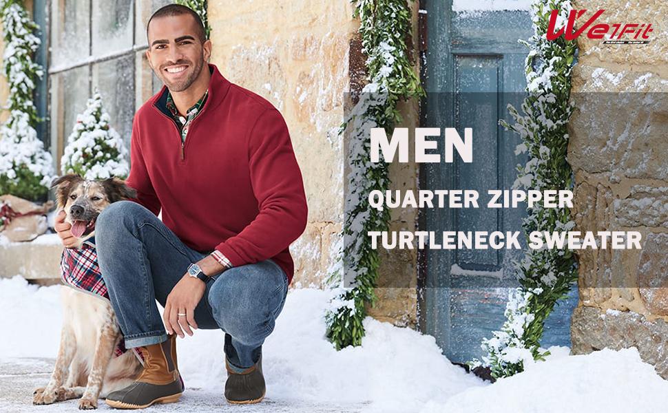 Men's Quarter Zip Sweaters
