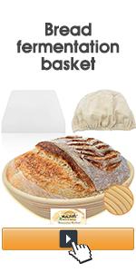 Bread fermentation basket