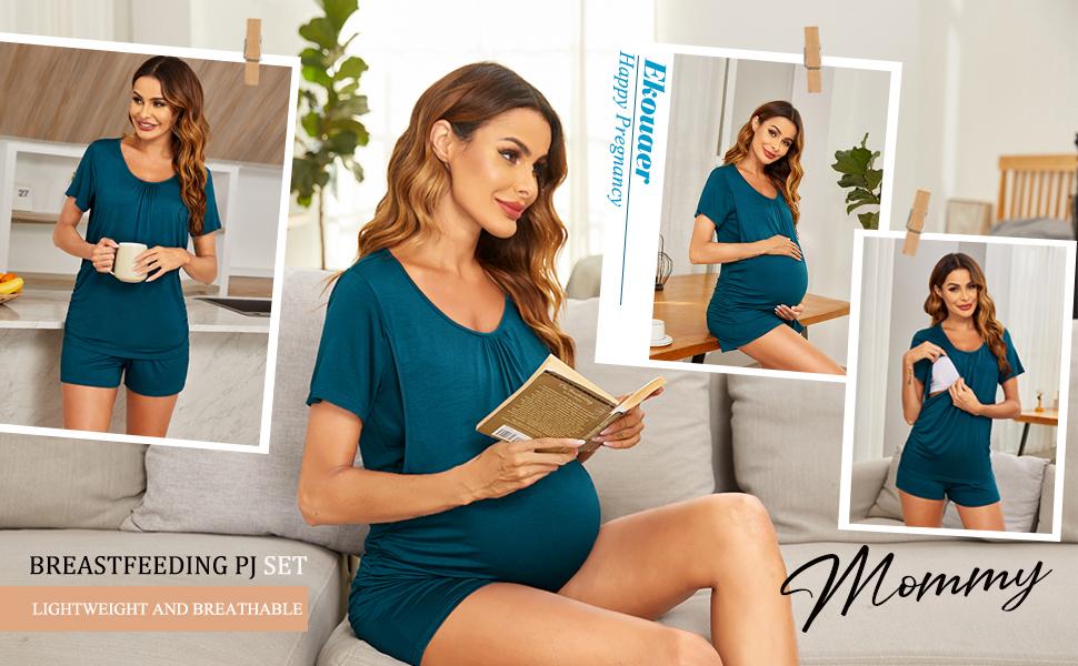 Maternity Nursing Pajamas Shorts Set