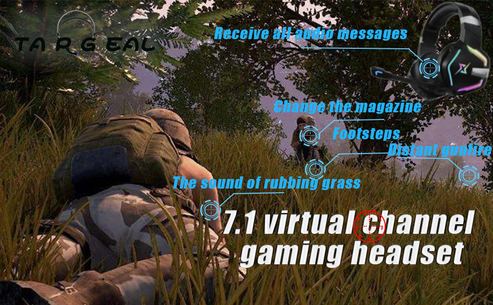 virtual 7.1 channel gaming headset