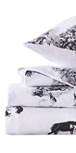 winter themed flannel sheets