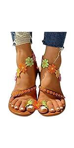 flower lace up sandal