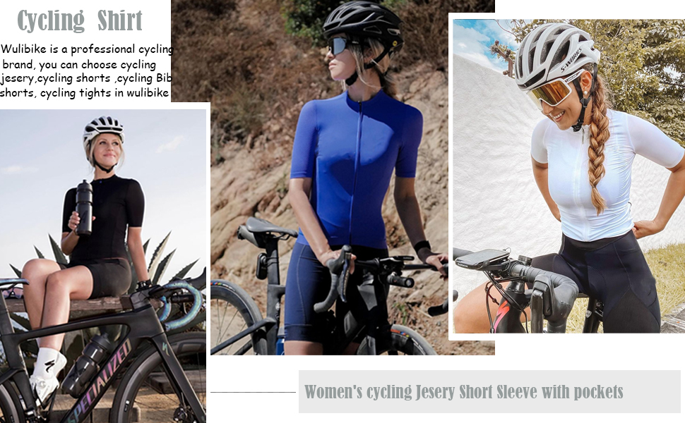 Women's Cycling Bike Jersey Short Sleeve Breathable Bicycle Shirt