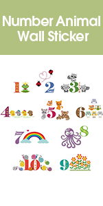 Number Animal Wall Sticker