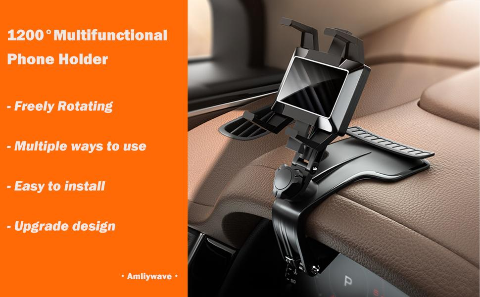 Amliywave 1200° Car Dashboard Phone Holder