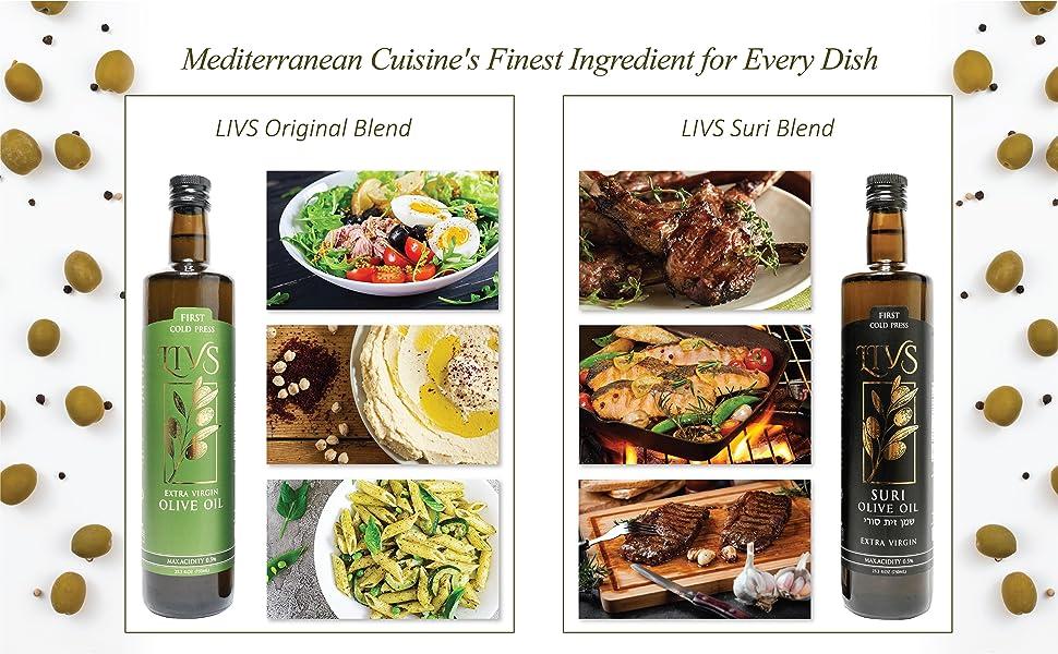 Olive Oil dishes - LIVS Original Blend vs Suri Blend