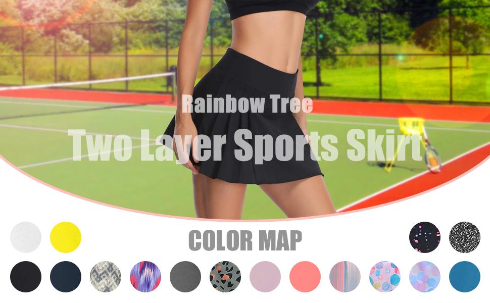 Rainbow Tree Golf skirt with shorts