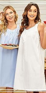 nightgown sleeveless
