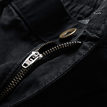 Durable mental zipper