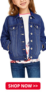 Button Down Jean Jacket Tops