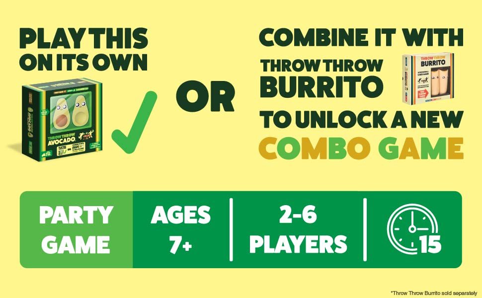 Play this on its own or combine it with throw throw burrito to unlock a new combo game.