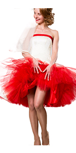 Halloween tutu party red for women cosplay costume vintage dress petticoat black tutus tulle skirt