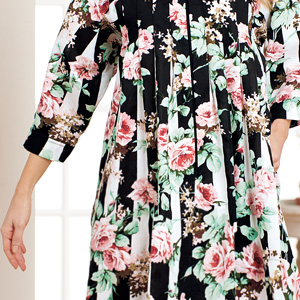 womens house dress pockets ladies lounger duster nightgown winter plus size housecoat robe floral