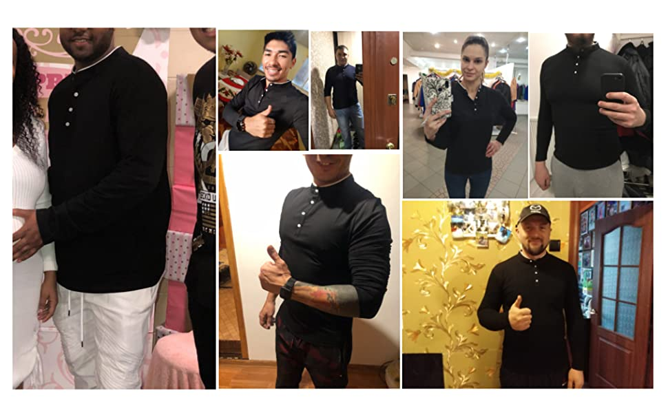 Men's Grandad Collar Shirt in Pique Slim Fit Short Sleeve Polo Top Summer shirts