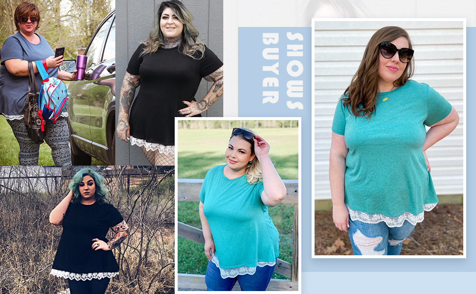 plus size summer shirts for women
