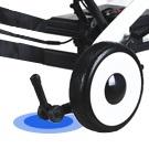 Electric wheelchair anti-reversing wheel