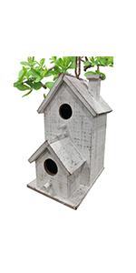 Hanging Bird Houses for Outdoor Cute Patio Garden Decorative Wooden Birdhouse