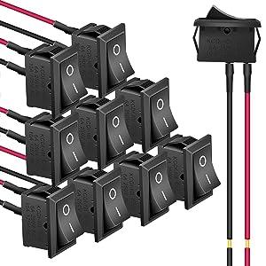 rentangle rocker switch
