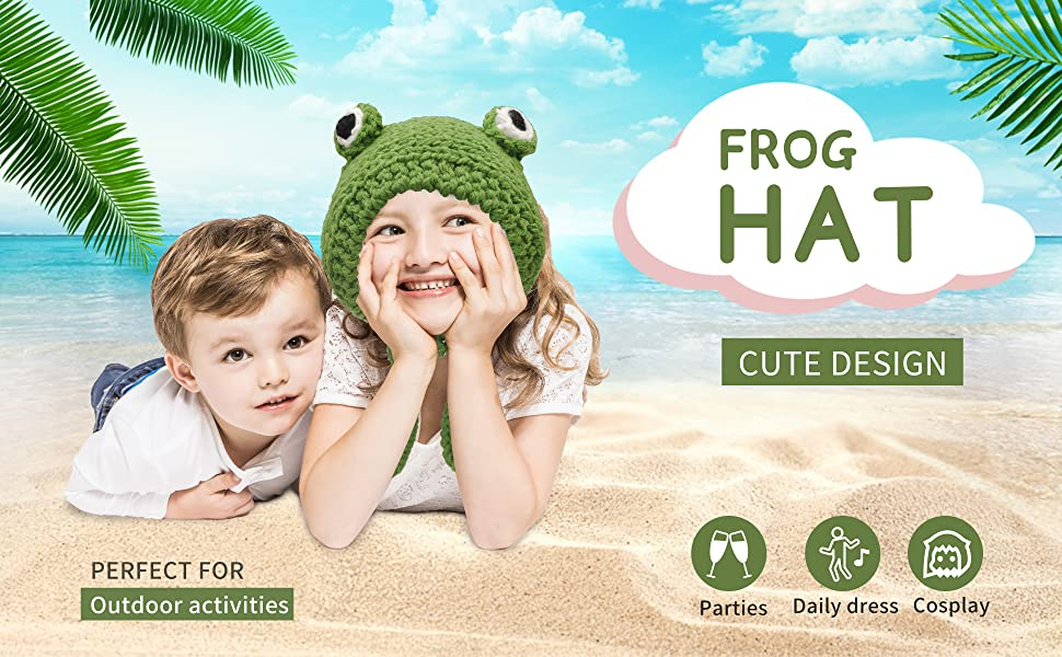 FROG Hat Is Perfect for Out Door Activities, Parties, Daily Dress and Cosplay.