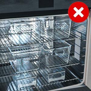 Ces boîtes de rangement ne passent pas au lave-vaisselle.