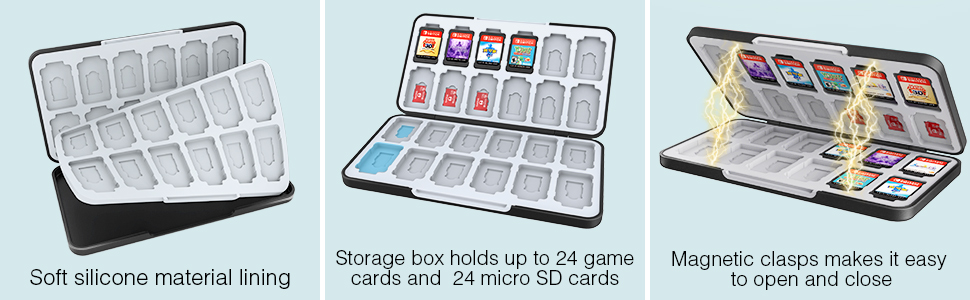 Switch game card box feature
