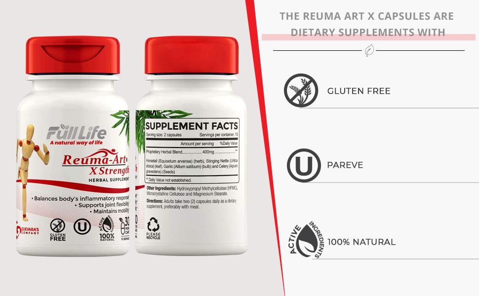 Reuma Art X Strength – 400 mg Herbal Supplements